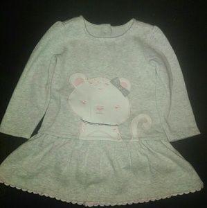 Gymboree sz 18-24 mths grey & pink sweater dress